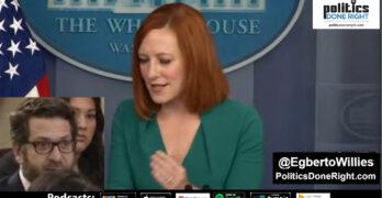 Jen Psaki swings at reporter parroting GOP talking point Biden is in control of American Jobs Plan.