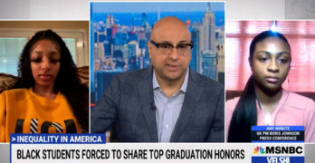 Black valedictorian & salutatorian forced to share award white students with less rigorous courses.