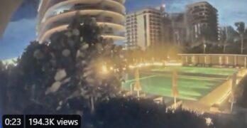 Surveillance video shows the condo building collapsing in near Miami Beach