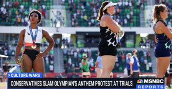 How to use Republican faux-outrage about Olympian act to highlight GOP Jan 6 insurrection-flag desecration