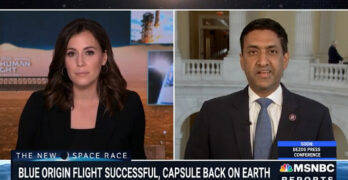 Rep. Ro Khanna justifiably slams the new billionaire space travel. Let's end our gullibility!