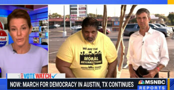Stephanie Ruhle - Thanks for TX Voter Suppression Rally coverage but poll dangerously misrepresented