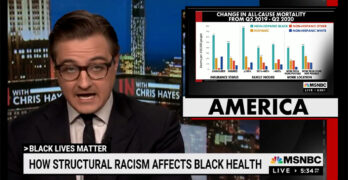 Chris Hayes presents a graphic view of the deadly permanence of systemic racism in healthcare