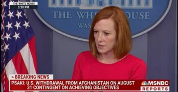 Psaki slaps down Fox News' Doocy question about giving up domestic policy for Afghanistan