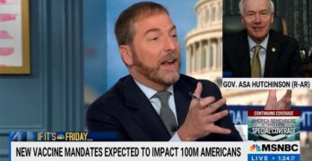 Chuck Todd to anti-mandate governor- What about the freedom of those who got vaccinated