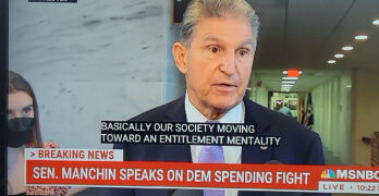 Senator from the poorest state insults his own constituents. Joe Manchin: 'Entitlement mentality'