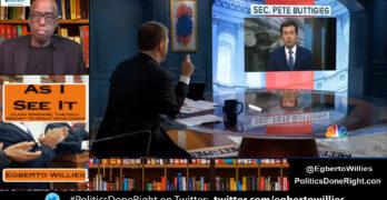 Buttigieg schools Chuck Todd: Private sector made supply chain fiasco. Biden not waiting on market.