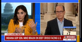 MSNBC Host slams Republican Senator: I hear you acknowledge the hypocrisy of your party (The Republican Party.)