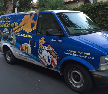 A van used by locksmiths in San Jose, CA