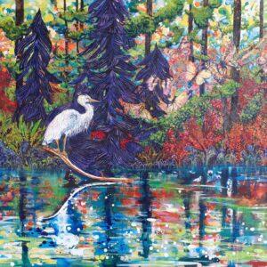 Heron on the Pond