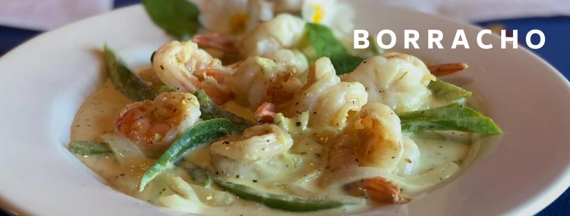 DINNER ENTREE- CAMARONES BORRACHOS