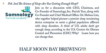 Somnology Presented at Half Moon Bay Brewing Company