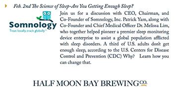 Somnology Presented at Half Moon Bay Brewing Company