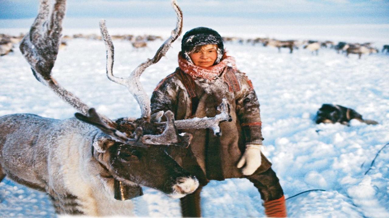 Eskimo and caribou