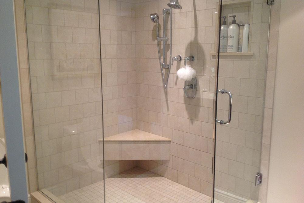 Corner Bathroom Install