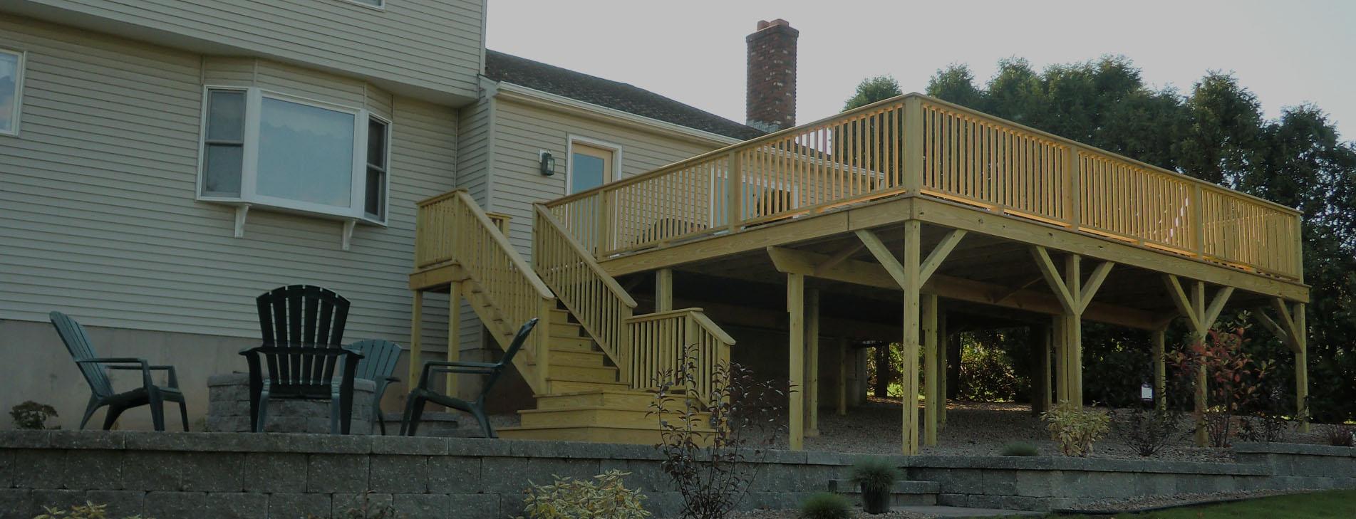 Large Back Deck Exterior Design