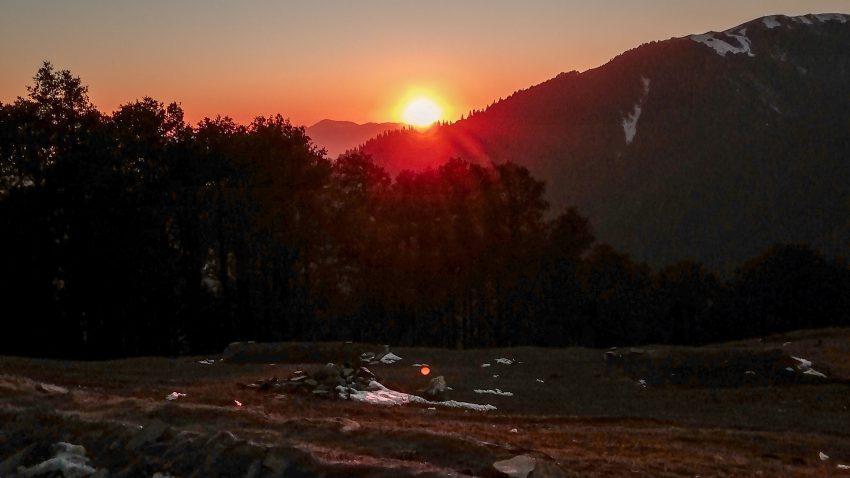 Sunset at Jalori Pass