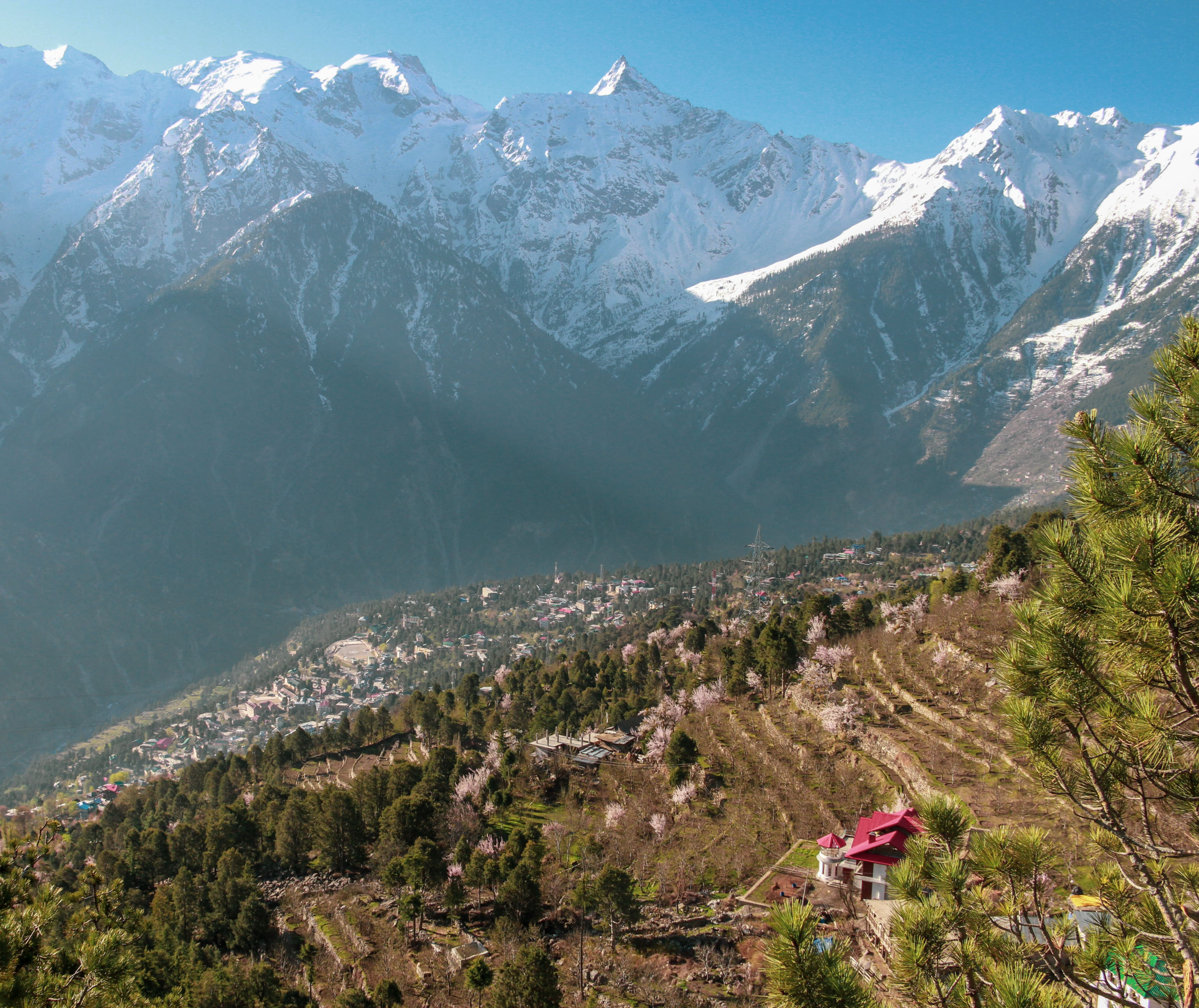 Sunlight view from Kalpa overlooking Reckong Peo