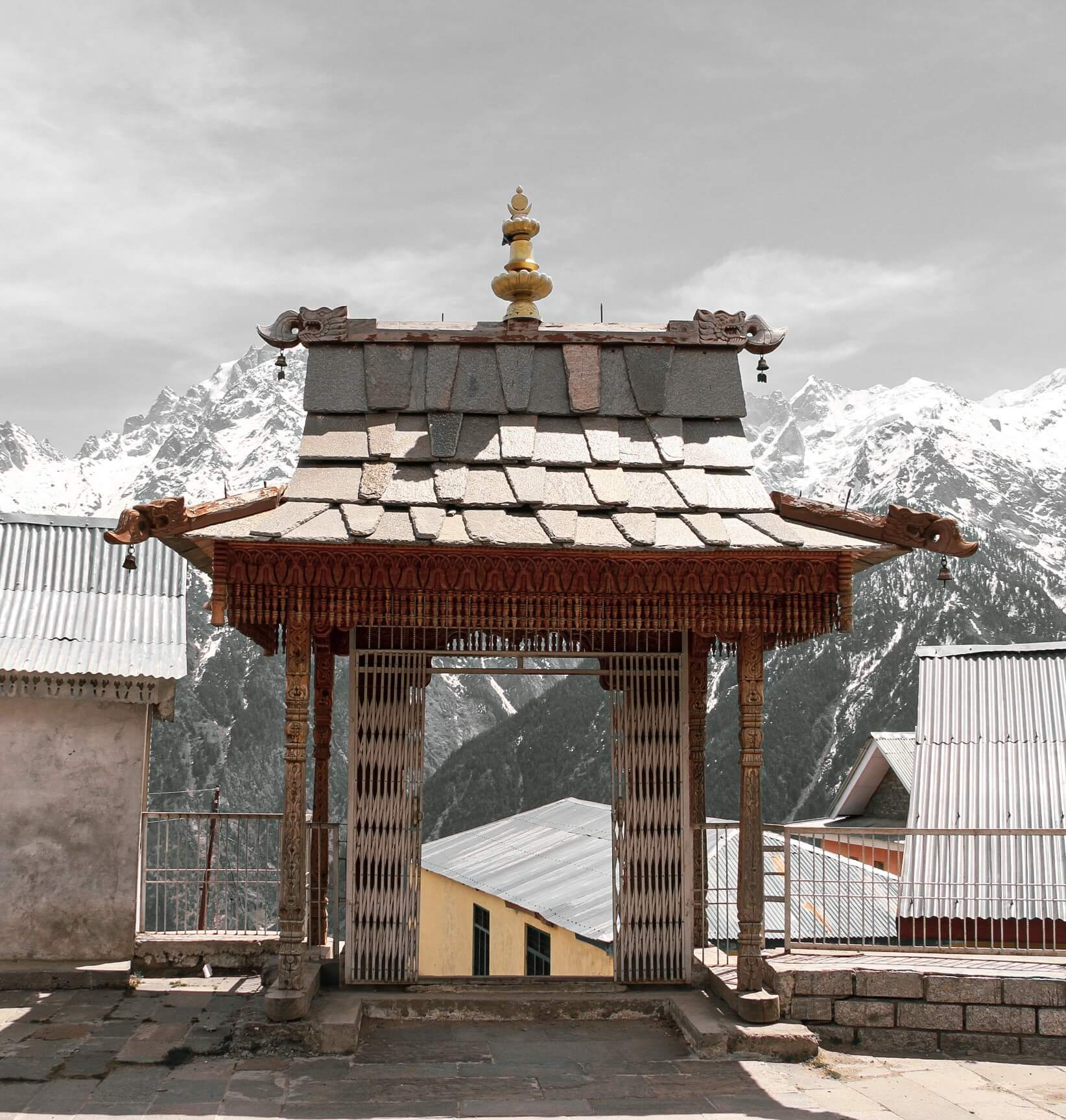 Kalpa Travel Photo Blog - This is from inside temple