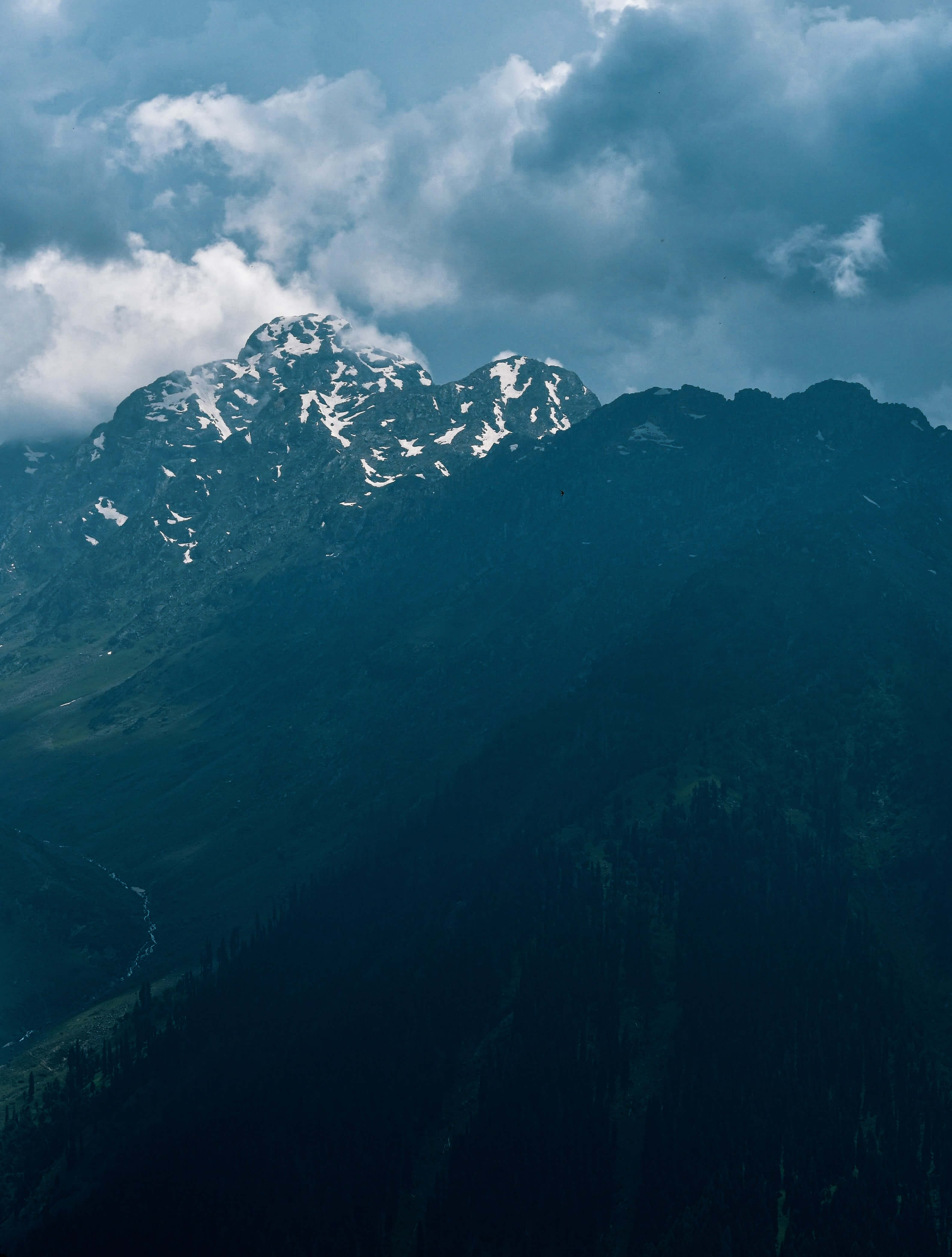 Trekking in Kashmir and snowy mountains