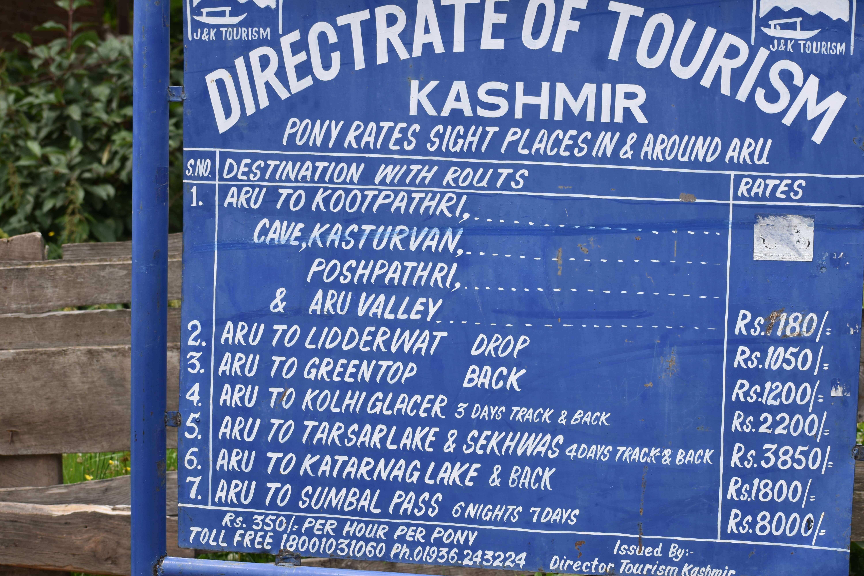 Treks from Aru Valley Pahalgam