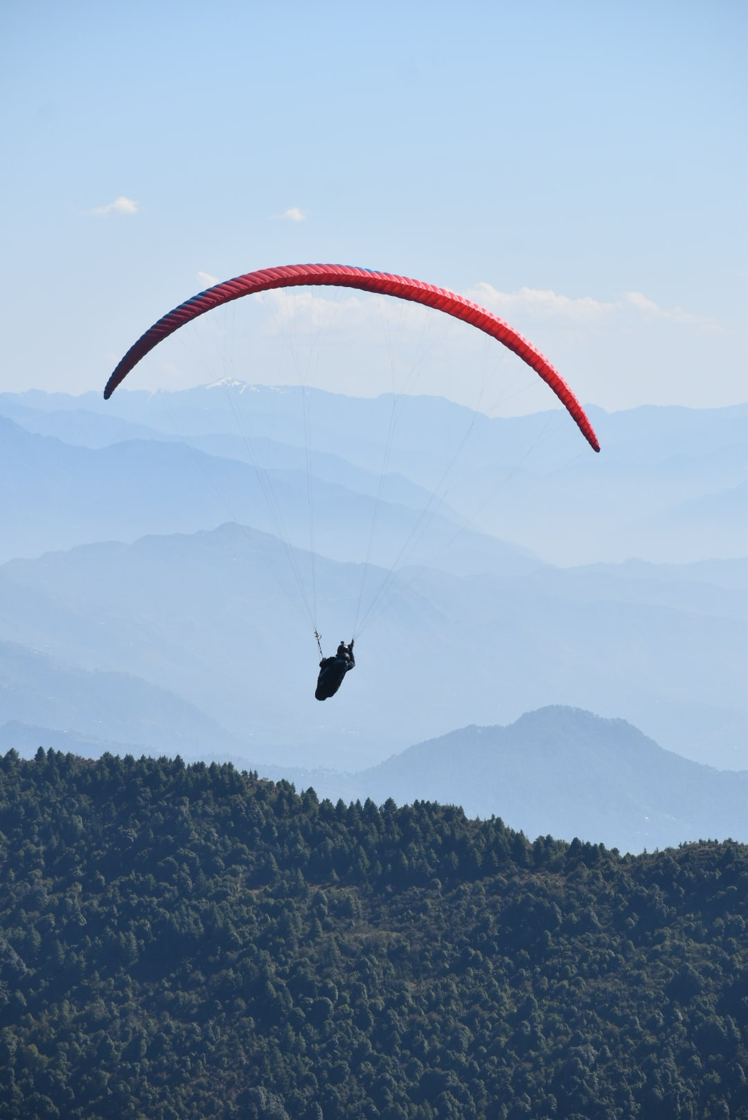 Paragliding from Asia's highest paragliding place