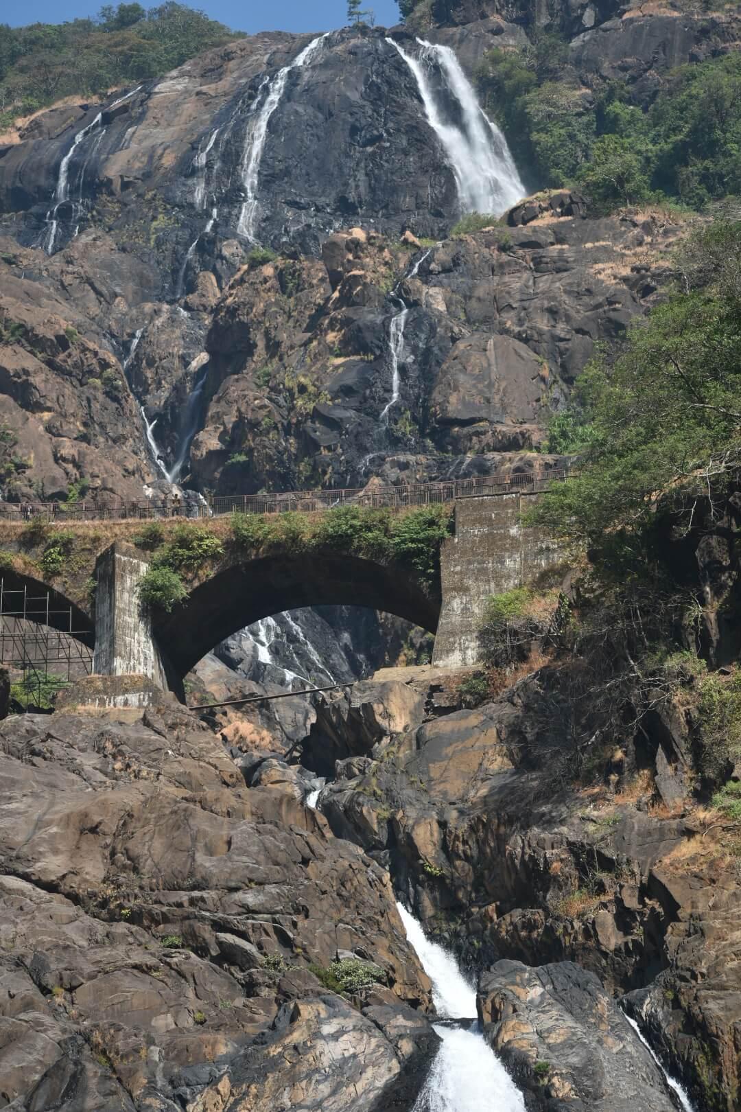 Dudhsagar Falls complete view