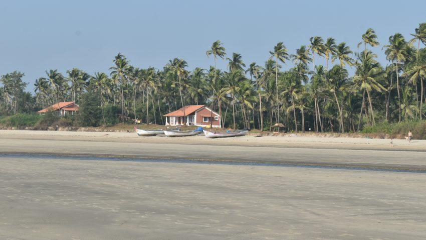 Restaurants,houses made of woods on Goa beaches
