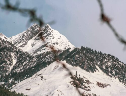 Mountain shot while exploring the roads of Manali