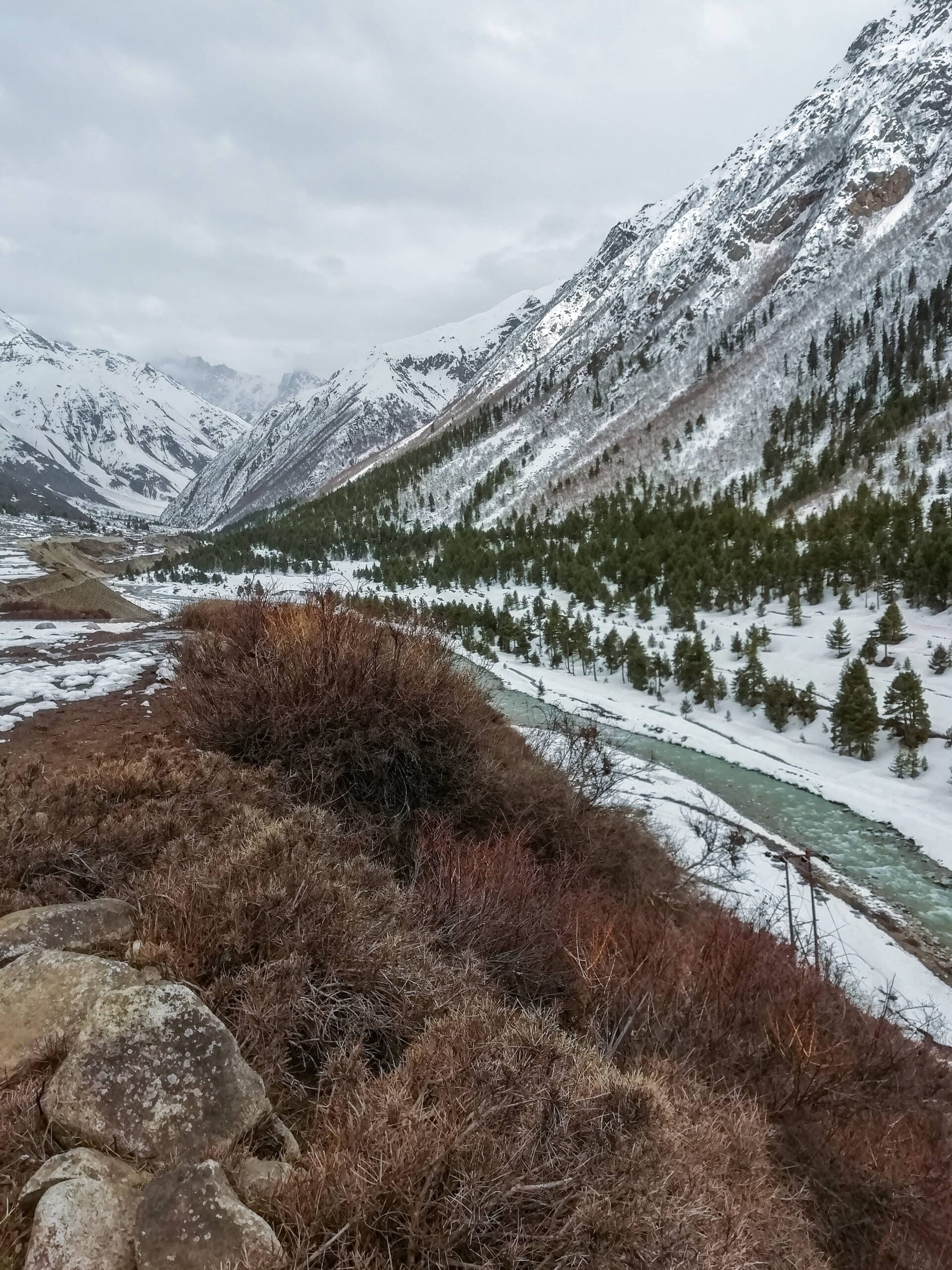 Chitkul in April full of snow & landscape beauty