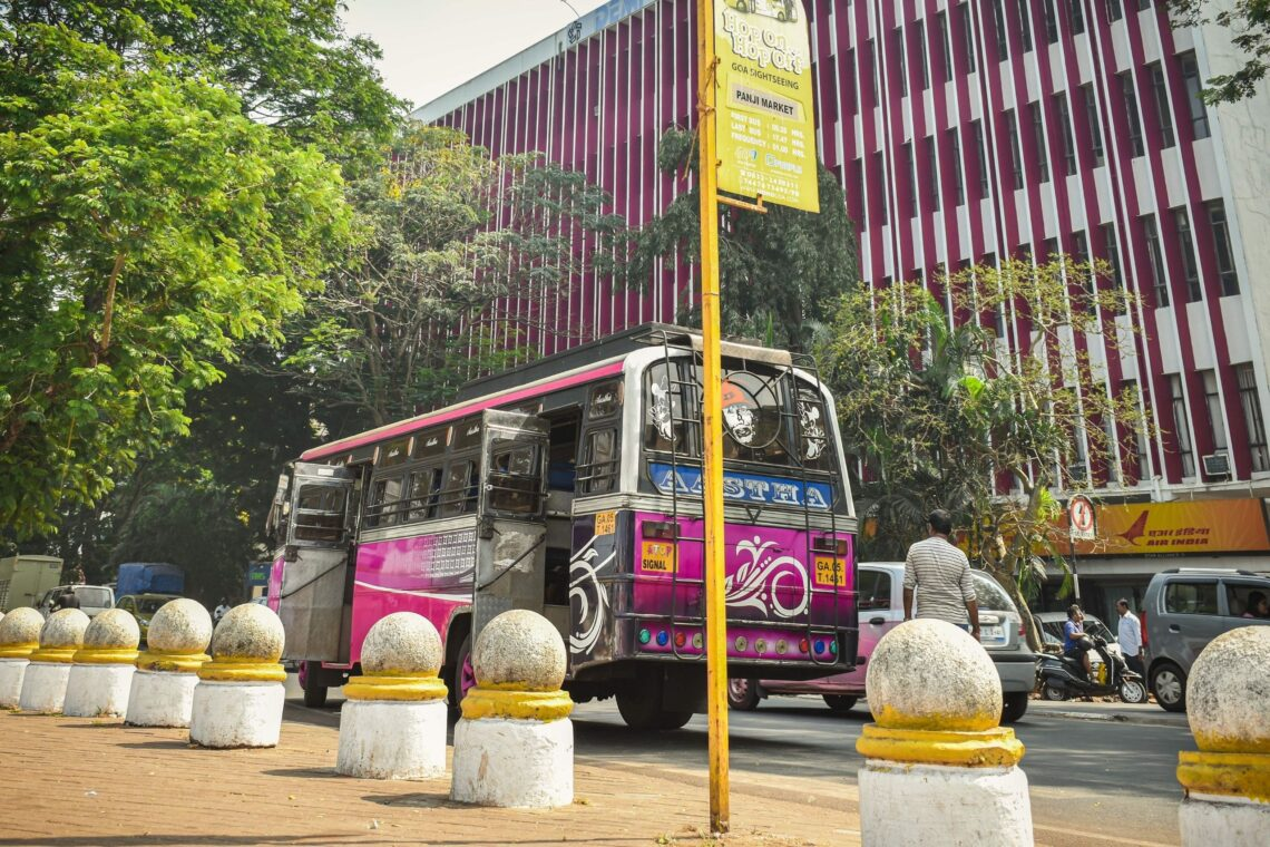 Using Goa Local Bus is one of the awesome way to spend longer in Goa