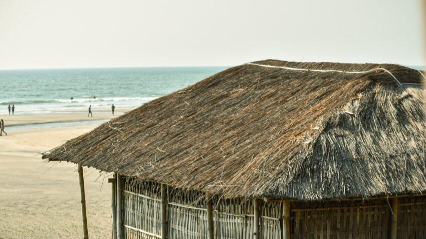 House on the beach side