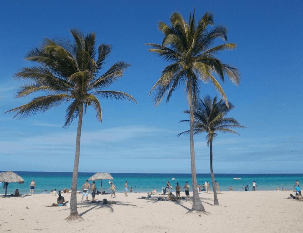 Santa Maria del Mar Beach in Havana Cuba - showing the tropical palms, sand and beach - Where to Stay in Santa Maria del Mar
