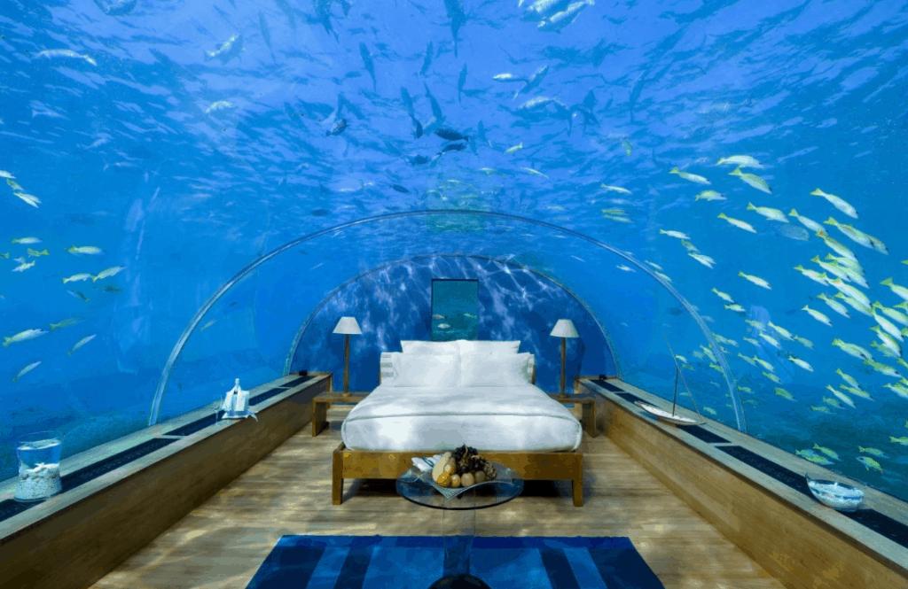 Underwater hotel accommodation bucket list