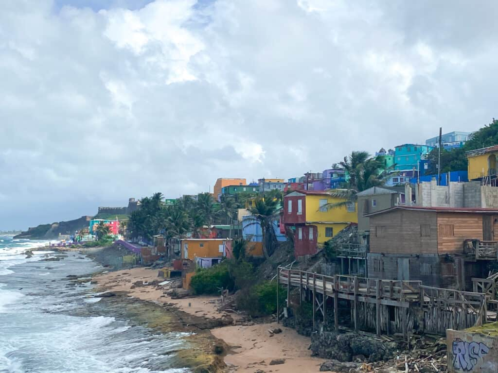 Views of La Perla from the Old San Juan Cemetery