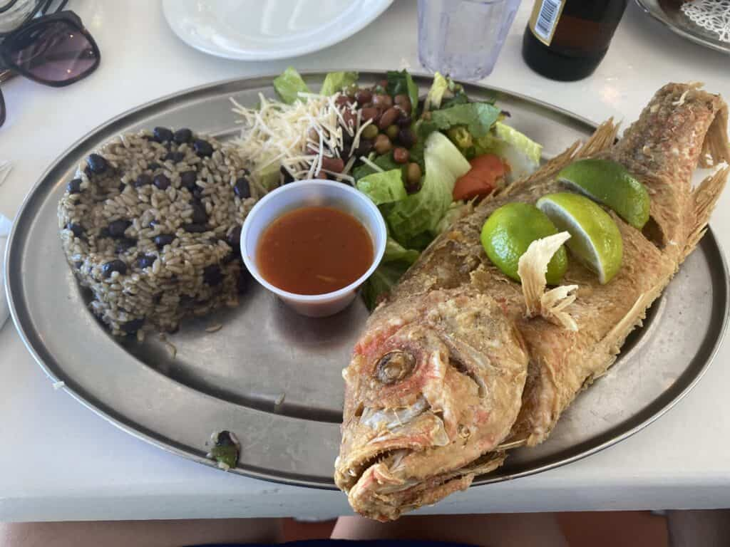 Fried fish at Los Kiosks de Luquillo