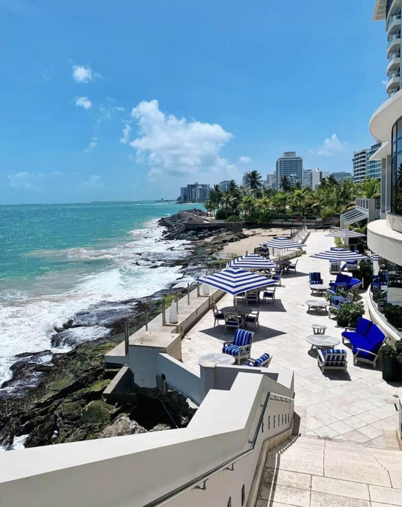 Sea view from the Condado Vanderbuilt hotel