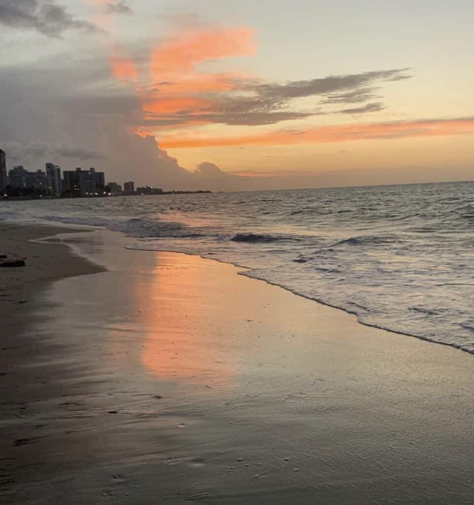 Ocean Beach San Juan at sunset