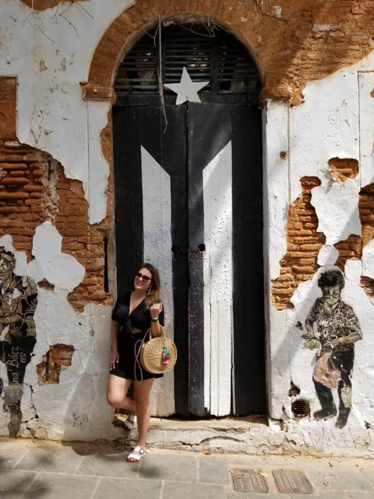 Puerto Rican Flag Door San Juan