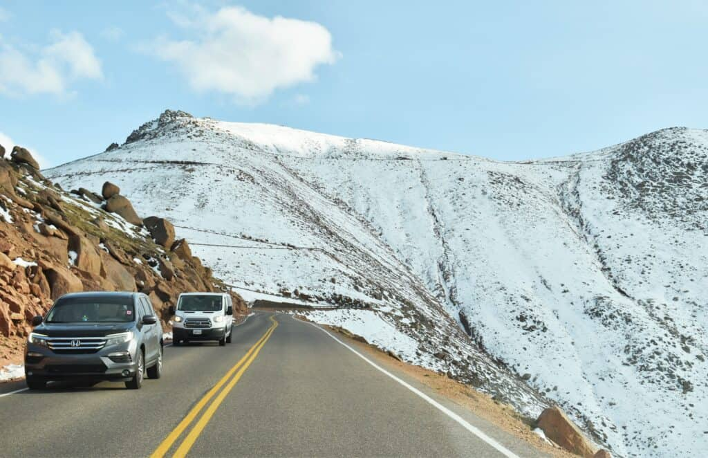 Driving to a Colorado 14er
