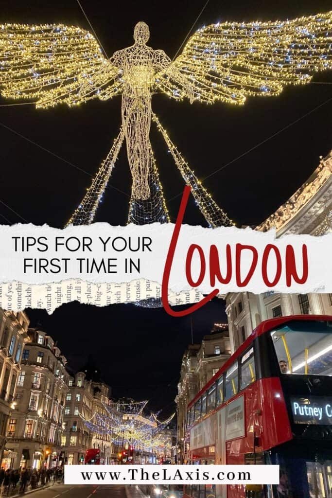 First time in London Tips