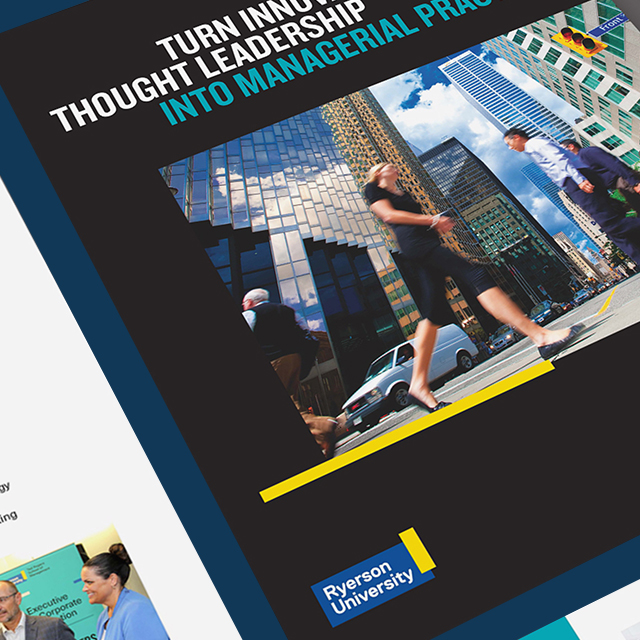 Work Portfolio Thumbnail Ryerson University Brochure