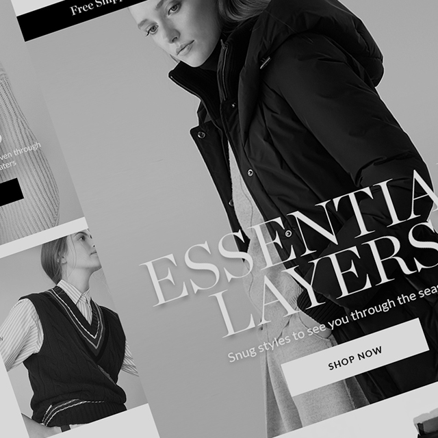 Work Portfolio Thumbnail Holt Renfrew Email Designs