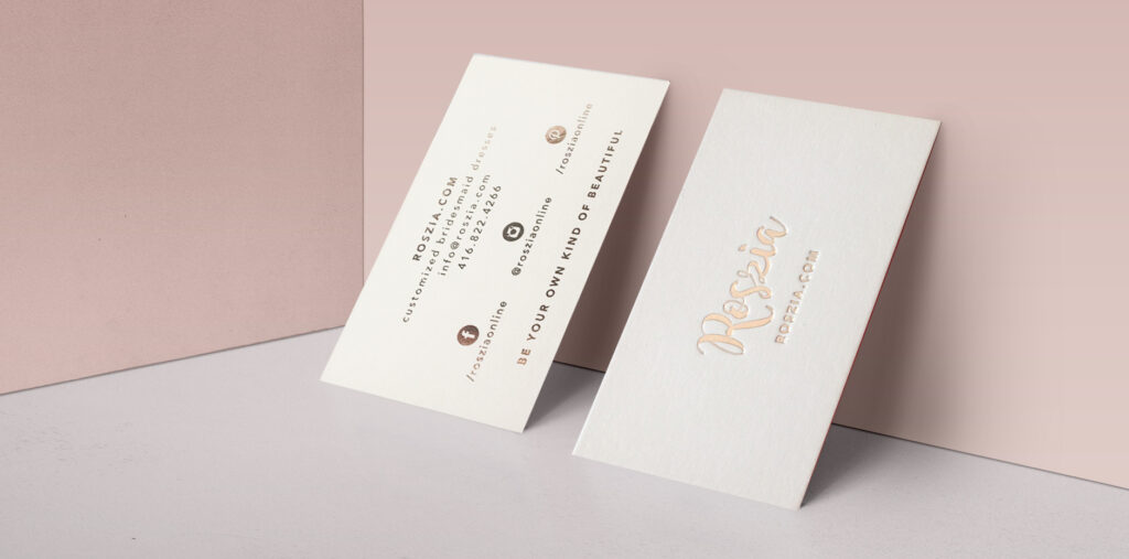 Roszia Private Branding Business Card Design