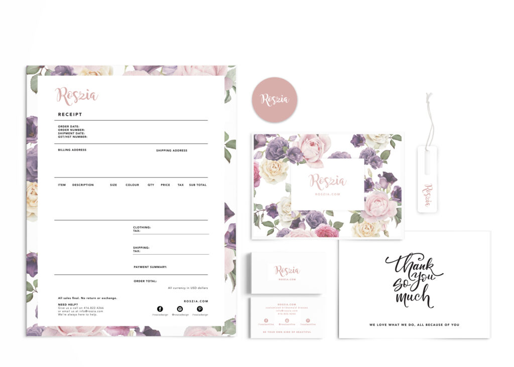 Roszia Private Branding Stationary Design
