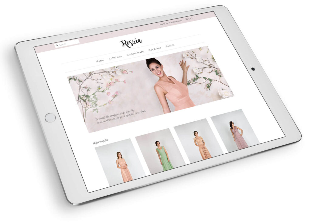 Roszia Private Branding E-Commerce Website Design