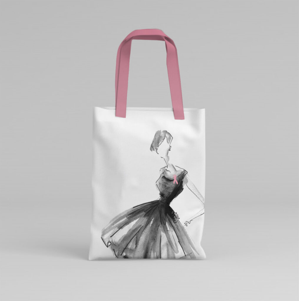 BCSC Breast Cancer Society of Canada Charity Small Tote Bag Design