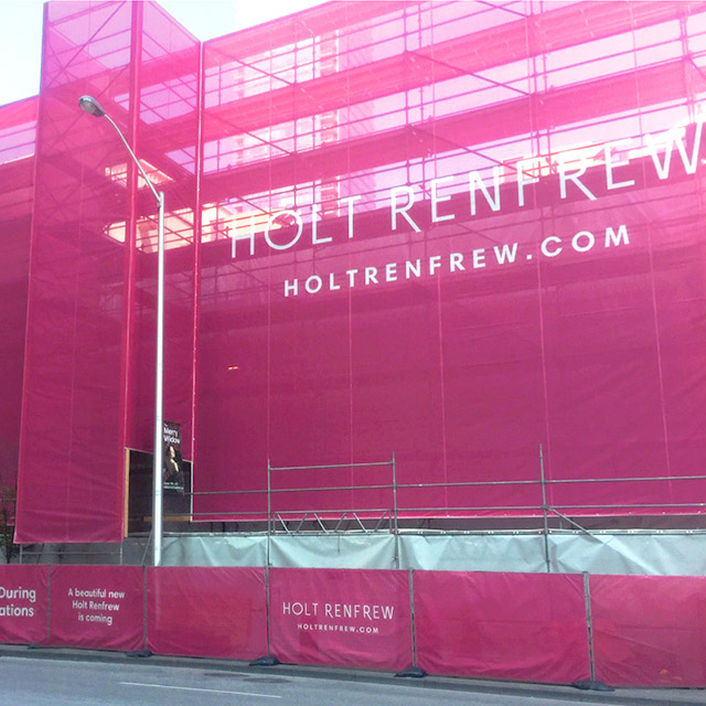 Holt Renfrew Hoarding Design Construction Thumbnail