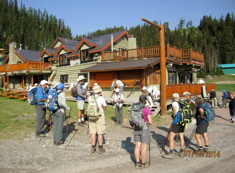Outside Trappers ready to hike