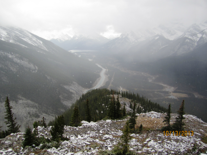 View back to the Spray Lakes Canal